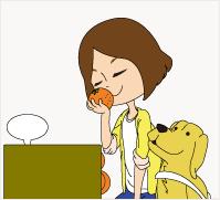 盲導犬と女性