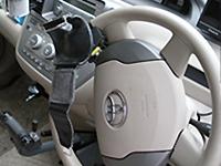 自家用車の旋回装置(ハンドル)