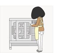 低めの食器棚