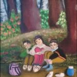 散歩と油絵などの趣味