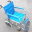 チェック柄の車椅子